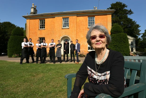 Imogen Skirving with her staff at Langar Hall